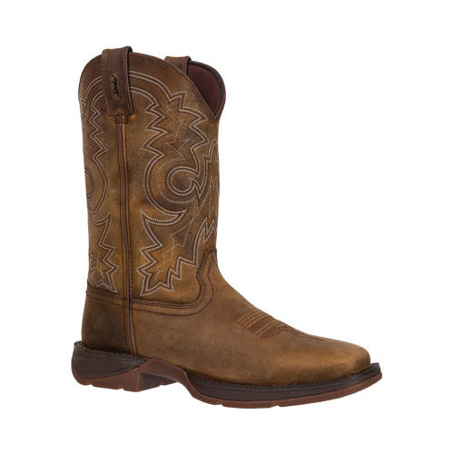 "Durango Western Boots Mens 12"" Rebel Pull On Square Toe Brown DB4443 by Durango"