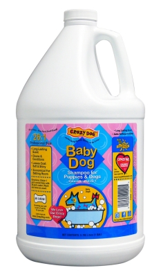 Cardinal Laboratories Crazy Dog Shampoo, 1 gal, Baby Powder by Crazy Dog