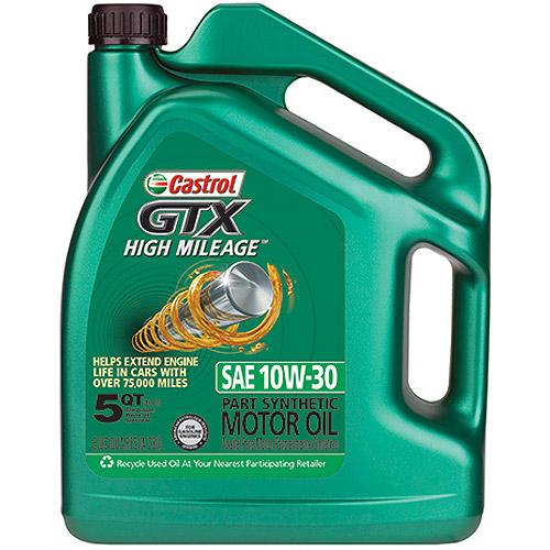 Castrol GTX 10W-30 High-Mileage  Motor Oil, 5 qt.