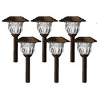 Sterno Home TV28568BR6 Solar Path Lights, Bronze Stainless Steel, 6-Pk.