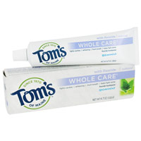 Toms Of Maine Whole Care Toothpaste With Fluoride Toothpaste, Spearmint - 4.7 Oz, 3 Pack
