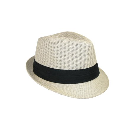 Size one size Kid's Straw Pleated Band Easter Fedora Hat](Kid Fedora)