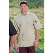 0415-6602 Small Short Sleeve Chef Coat in Stone
