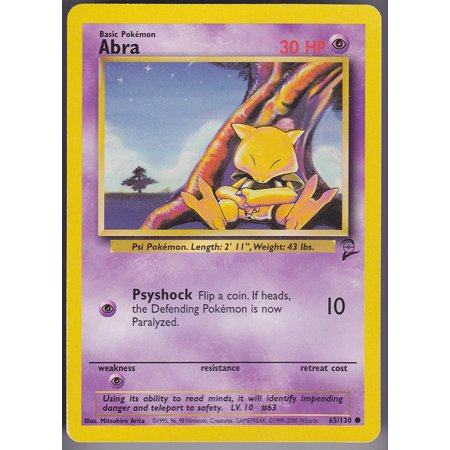Abra   Basic   43  Toy   Psychic Energy Level 10 Monster  63 By Pok Mon