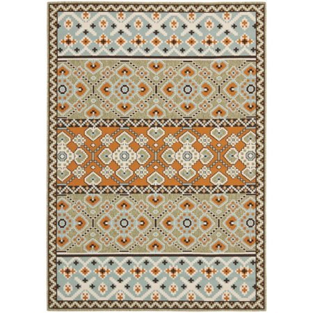 "Safavieh Veranda 8' X 11'2"" Power Loomed Rug in Green and Terracotta - image 1 de 1"