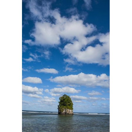 Coconut Point - Single Rock at Coconut Point in Tutuila Island, American Samoa, South Pacific Print Wall Art By Michael Runkel
