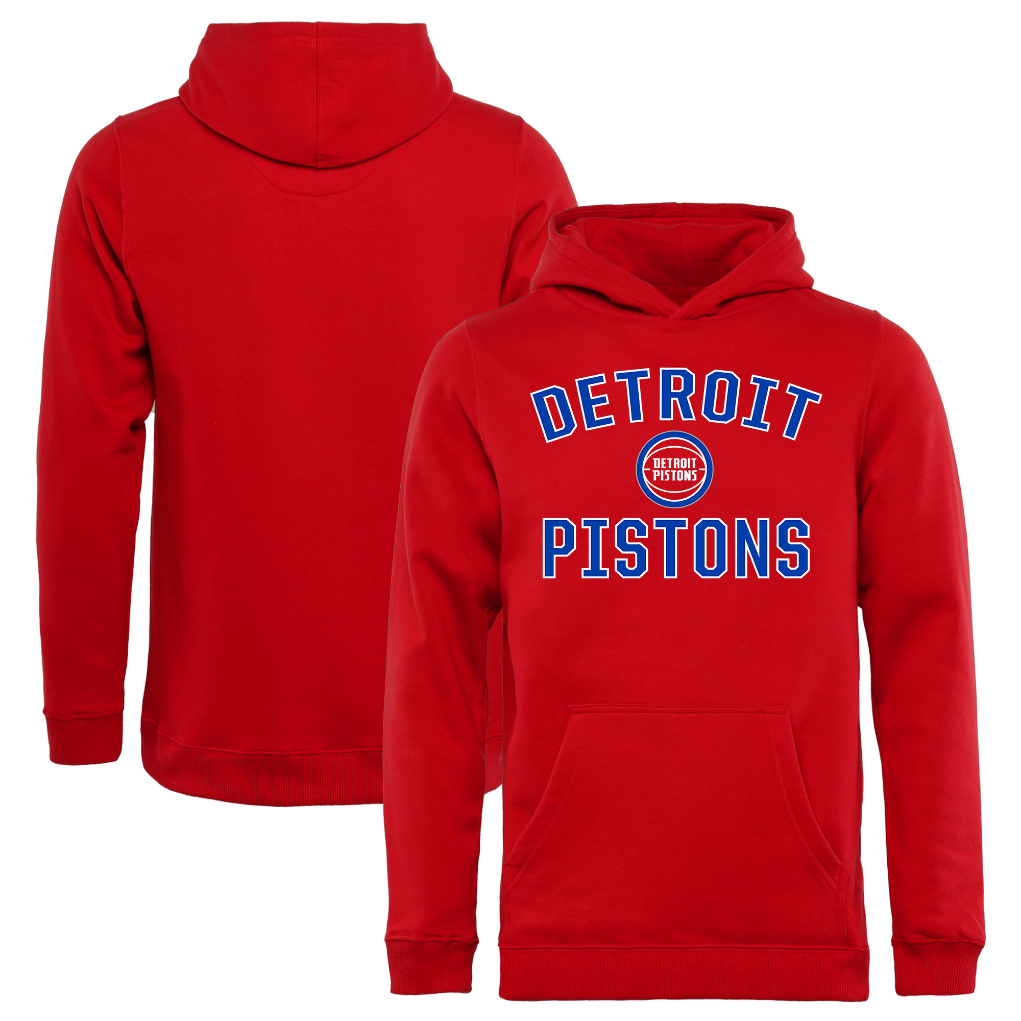 Detroit Pistons Youth Victory Arch Pullover Hoodie - Red