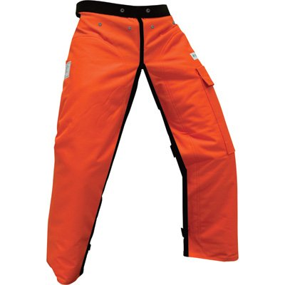 """Forester Chainsaw Safety Chaps with Pocket, Apron Style 40"""", Orange"""