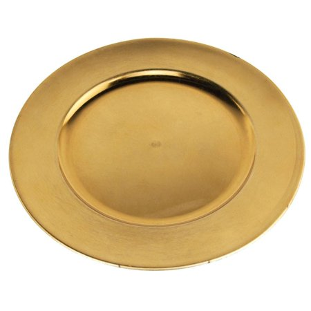 Metallic Round Charger Plate, 12-Inch, Gold