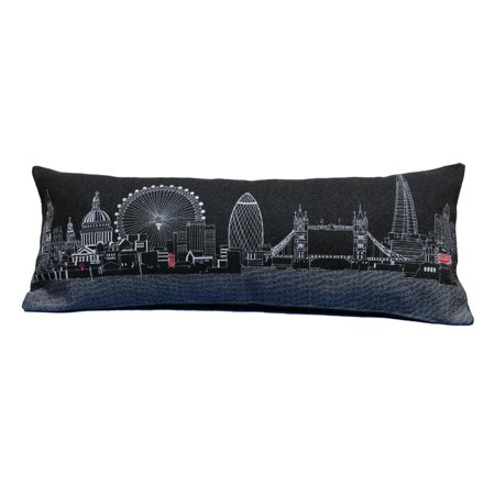 Beyond Cushions London England Night Skyline Queen Size Embroidered