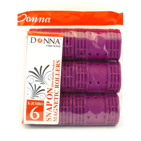 Donna Salon Quality Snap On Magnetic Hair Rollers (X-Jumbo -
