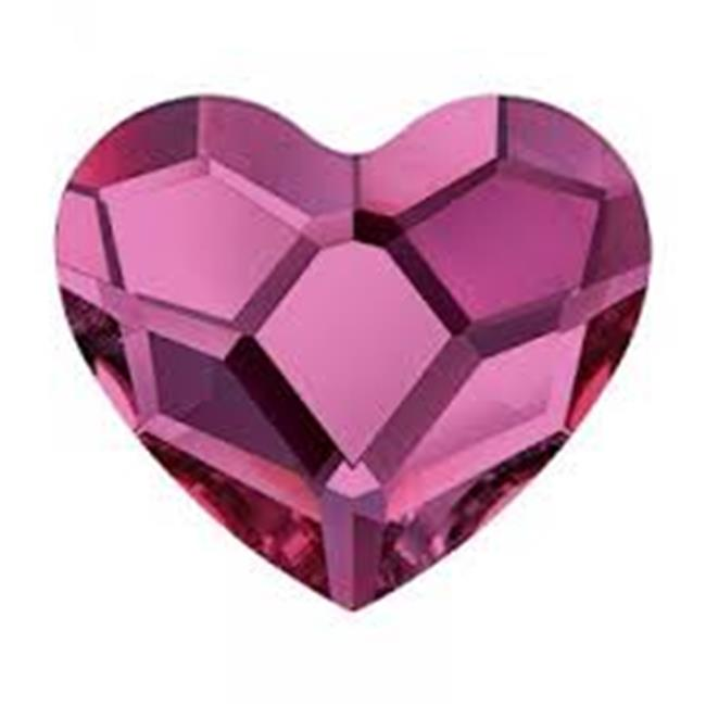 Anagram 41106 9 in. Fuchsia Heart Foil Inflated Balloon