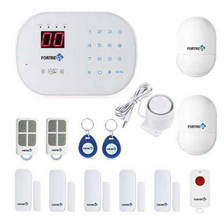 Wi-Fi Wireless Home Security Alarm System Classic Kit by Fortress Security Store DIY Kit- No Contracts Easy To (Best No Contract Alarm System)