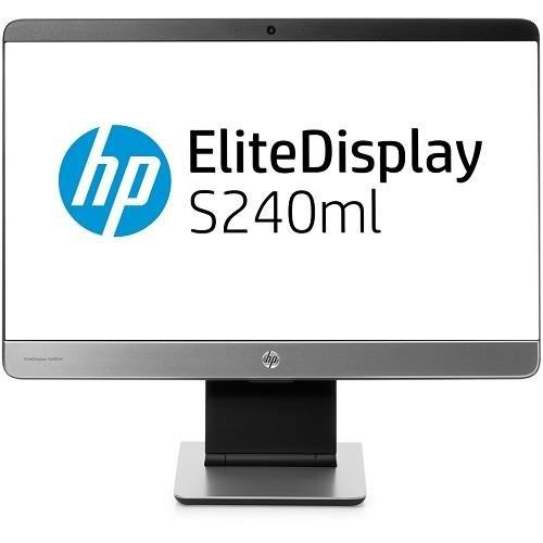 "Hp Elite S240ml 23.8"" Led Lcd Monitor - 16:9 - 7 Ms - Adjustable Display Angle - 1920 X 1080 - 300 Nit - 3,000,000:1 - Full Hd - Speakers - Webcam - Hdmi - Vga - Displayport - Usb - 65 W (f4m47a8-aba)"