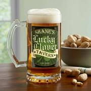 Personalized Raise a Glass to Shamrock Beer Mug, 16 oz