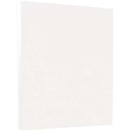 JAM Paper Vellum Bristol Cardstock, 8.5 x 11, 67 lb White, 50 Sheets/Pack
