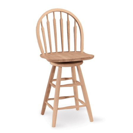 Windsor Arrowback Swivel Counter Stool Unfinished