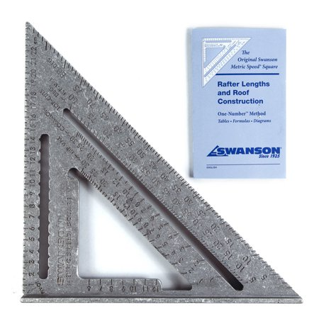Swanson NA202 25-Centimeter Metric Speed Square & Swanson Blue Book (English, Spanish, French)