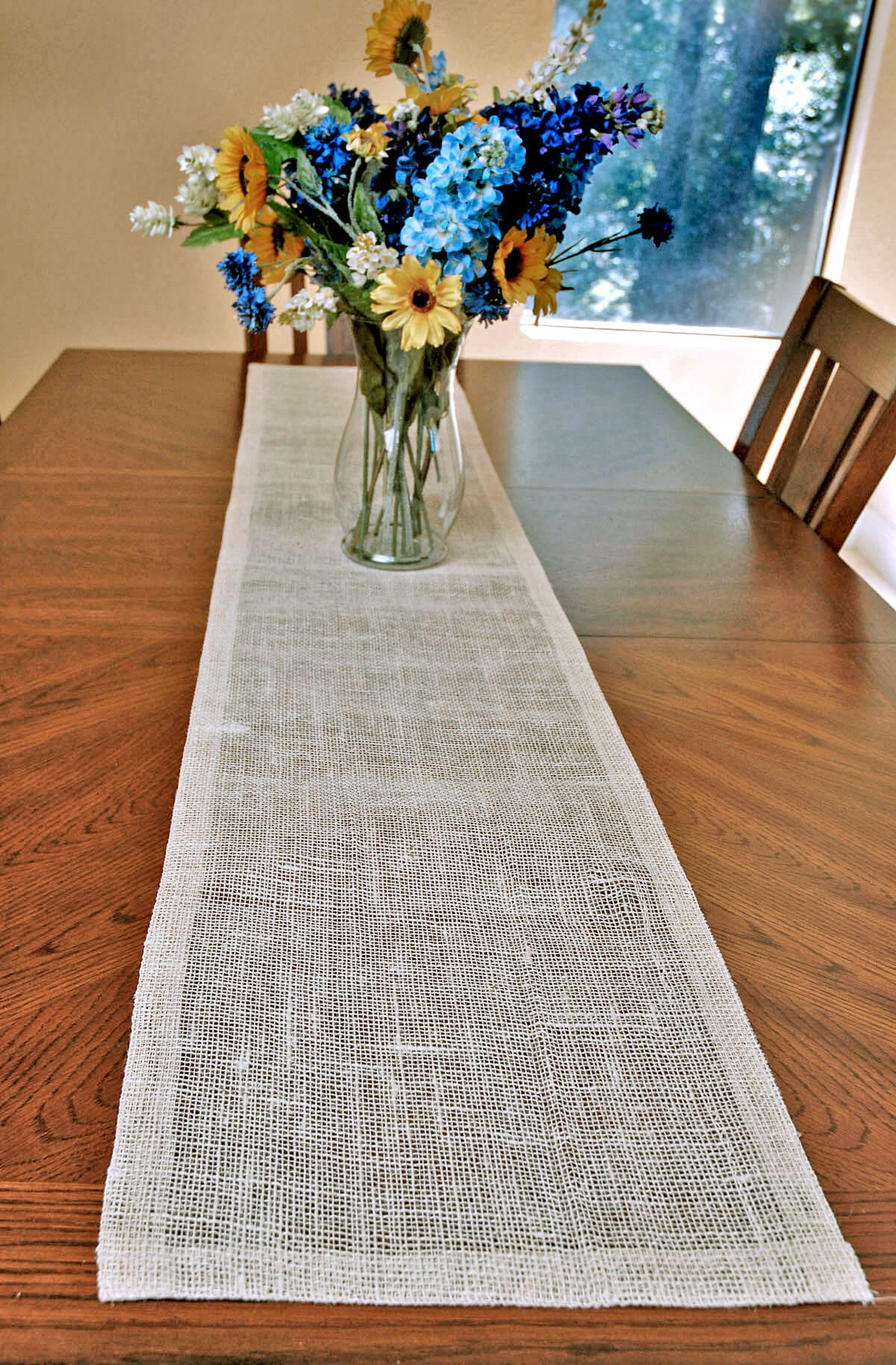 6 pieces of ivory white jute table runner 14x72 inch walmart com