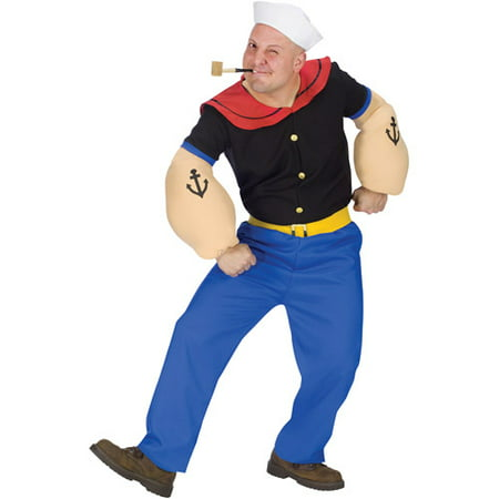 Popeye Adult Halloween Costume - Popeye Costume Accessories