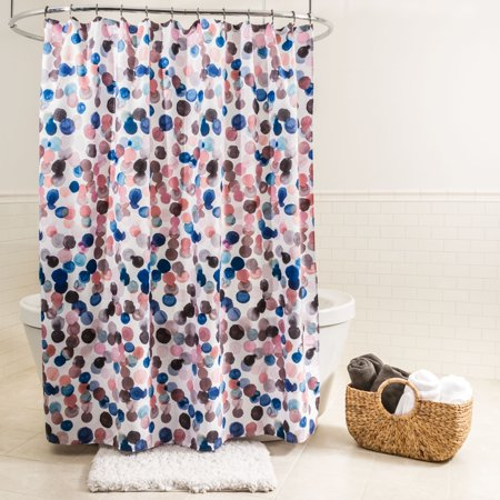 Splash Home Splish Polyester Fabric Shower Curtain 70 X 72 Blue Pink