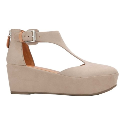 Gentle Souls Womens Nydia Platform Wedge with T-Strap