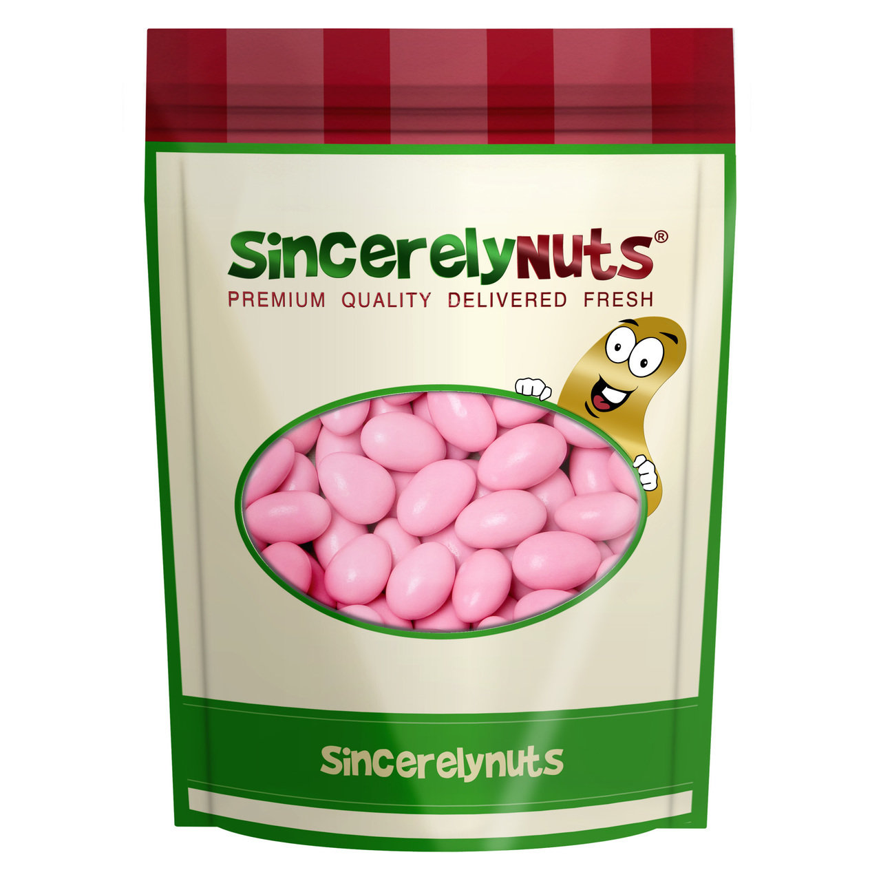 Sincerely Nuts Pink Jordan Almonds, 2 LB Bag