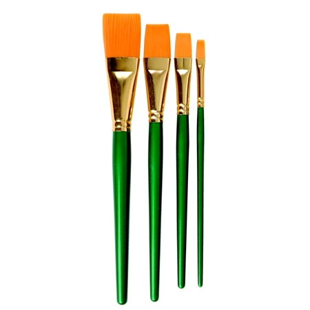 sax optimum white synthetic taklon paint brushes round size 10