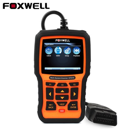 Foxwell NT510 OBD2 Scanner for BMW MINI Rolls-Royce Support Oil Reset Transmission SRS ABS EPB DPF SAS Air Conditioning System ASR Check Engine Light Code Reader  Full System OBDII Diagnostic Tool