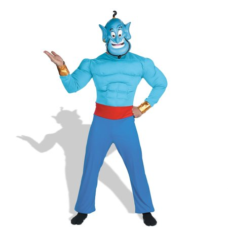 Aladdin Disney Genie Muscle  Costume (Aladdin Magic Carpet Ride Halloween)
