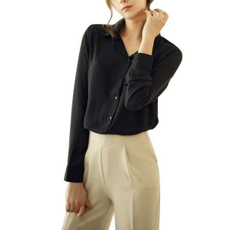 ZEDWELL 2018 Fashion Women casual tops Long Sleeve Chiffon shirt Blouse Simple spring autumn women plus size blusas shirt woman