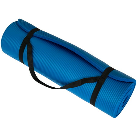 "Wakeman Fitness Extra Thick Yoga Exercise Mat 71"" x 24"" x 0.5"""