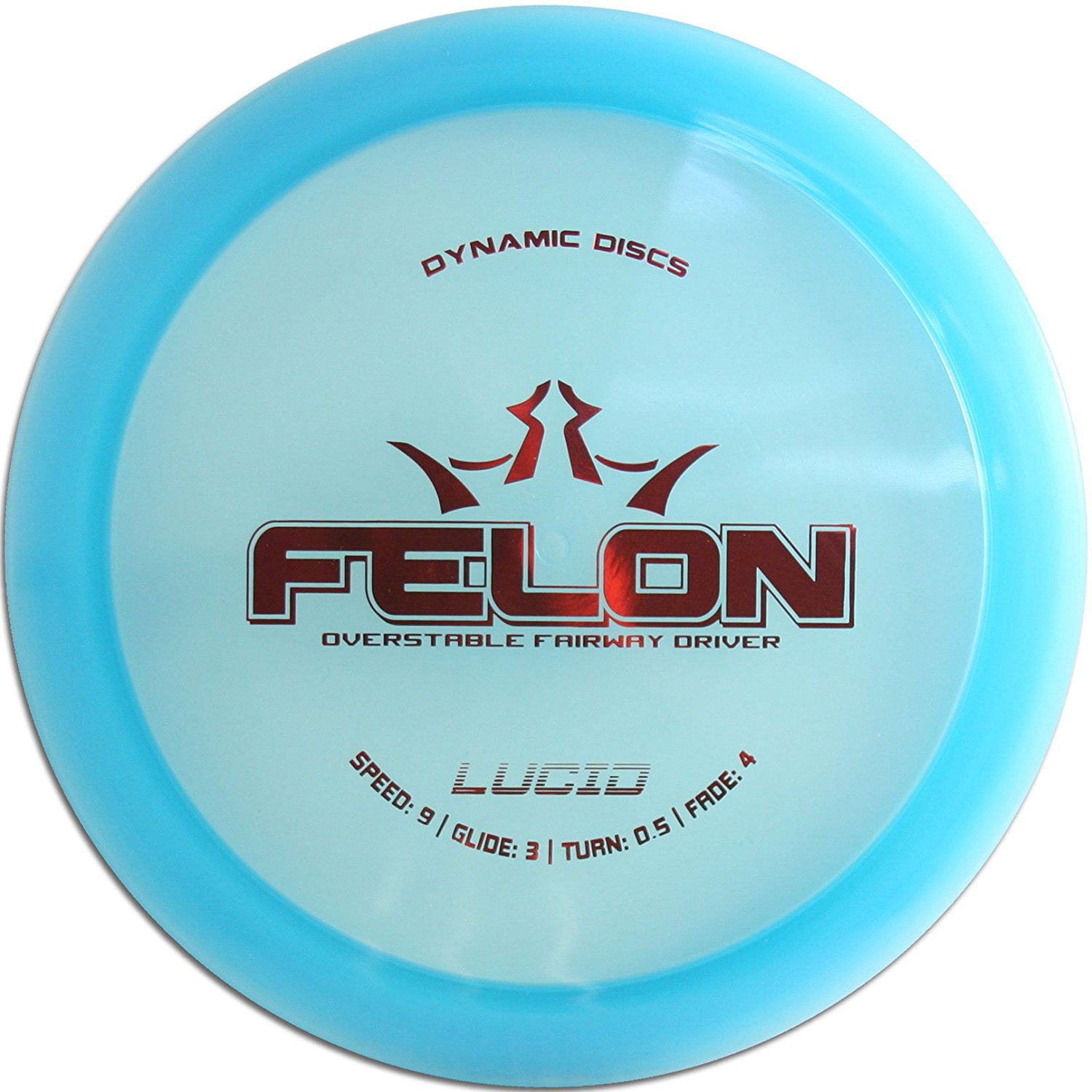Lucid Felon Disc Golf Fairway Driver 170-176g, Speed: 9 Glide: 3 Turn: 0.5 Fade: 4 By... by