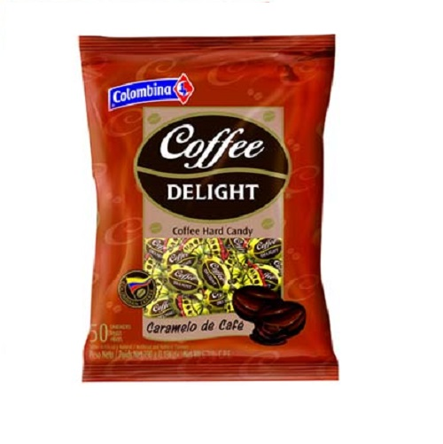 (5 Pack) Colombina Coffee Delight Coffee Delight Hard Candy, 50 ea
