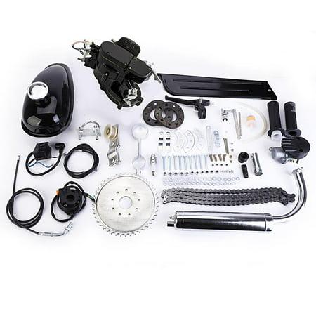 Ktaxon 80cc Bike Bicycle Motorized 2 Stroke Petrol Gas Motor Engine Kit Set Black (Bicycle Motor Gas)