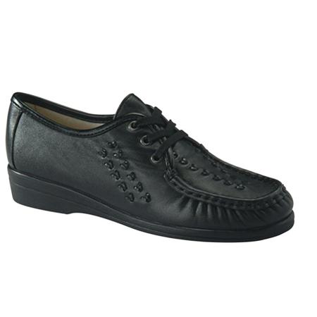 Softspots BONNIE LITE Womens Black Comfort Lace Up Walking Shoes (Softspots Pumps)