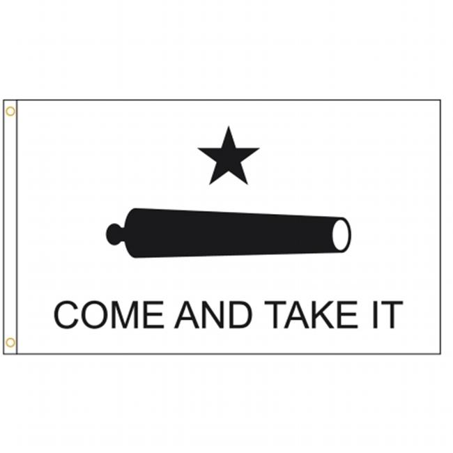 Annin Flagmakers 2938 3 x 5 ft. Nylon - Glo Gonzales - Come & Take It Flag