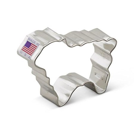 3 Inch Tin Cookie Cutter - Ann Clark Lamb Cookie Cutter - 3 Inches - Tin Plated Steel