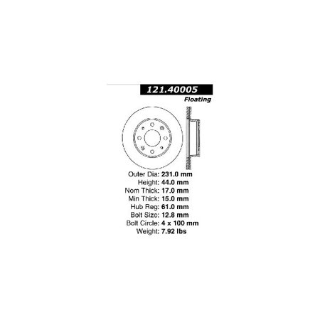 Crx Front Fender - Go-Parts OE Replacement for 1984-1987 Honda Civic Front Disc Brake Rotor for Honda Civic (1500 S / Base / CRX / CRX Si / DX)