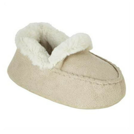 a085f0318e7d Wonder Kids - Wonder Kids Infant Boys Tan Faux Suede Moccasin Slippers  House Shoes - Walmart.com