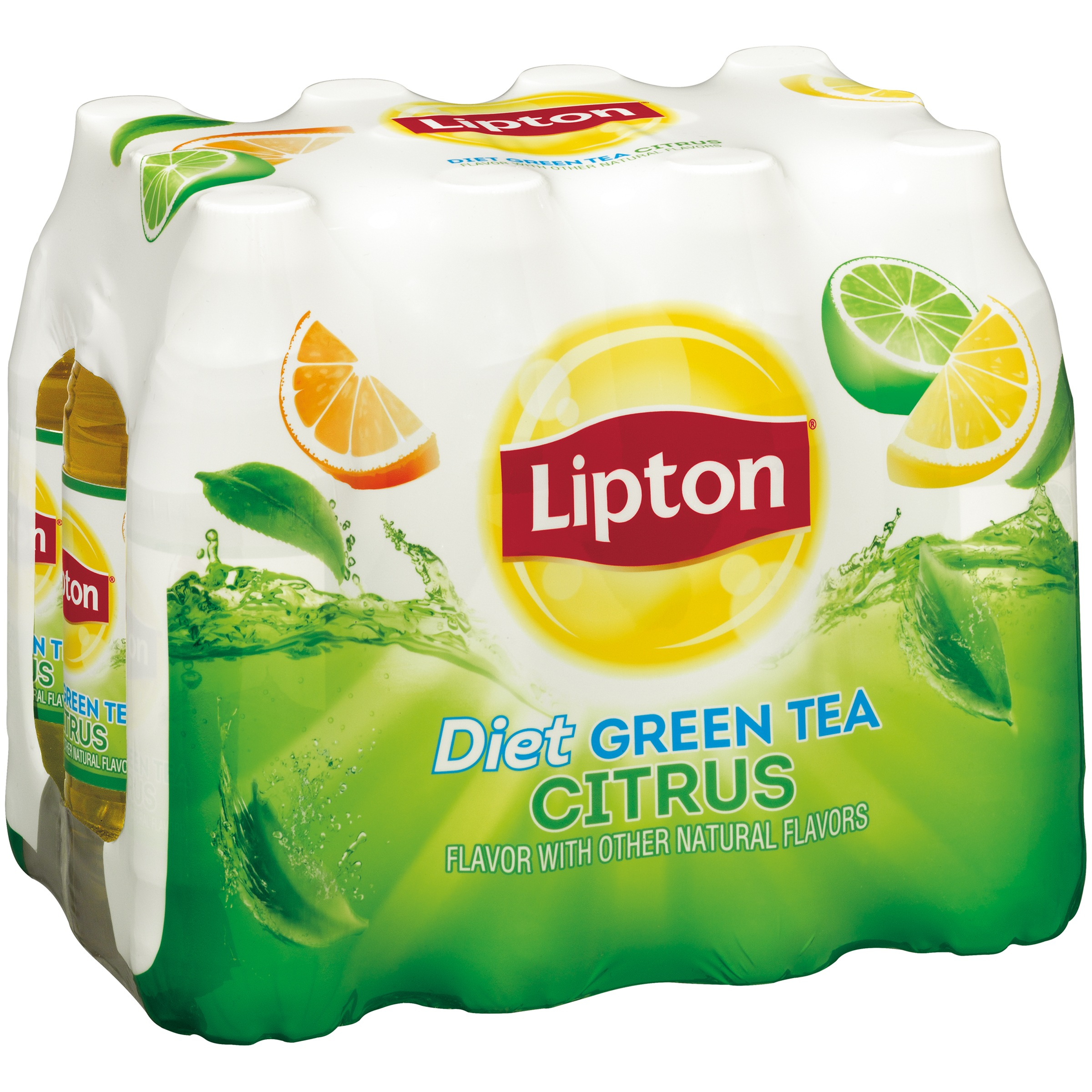 Lipton Diet Diet Green Tea Citrus Iced Tea, 16.9 Fl Oz, 12 Count