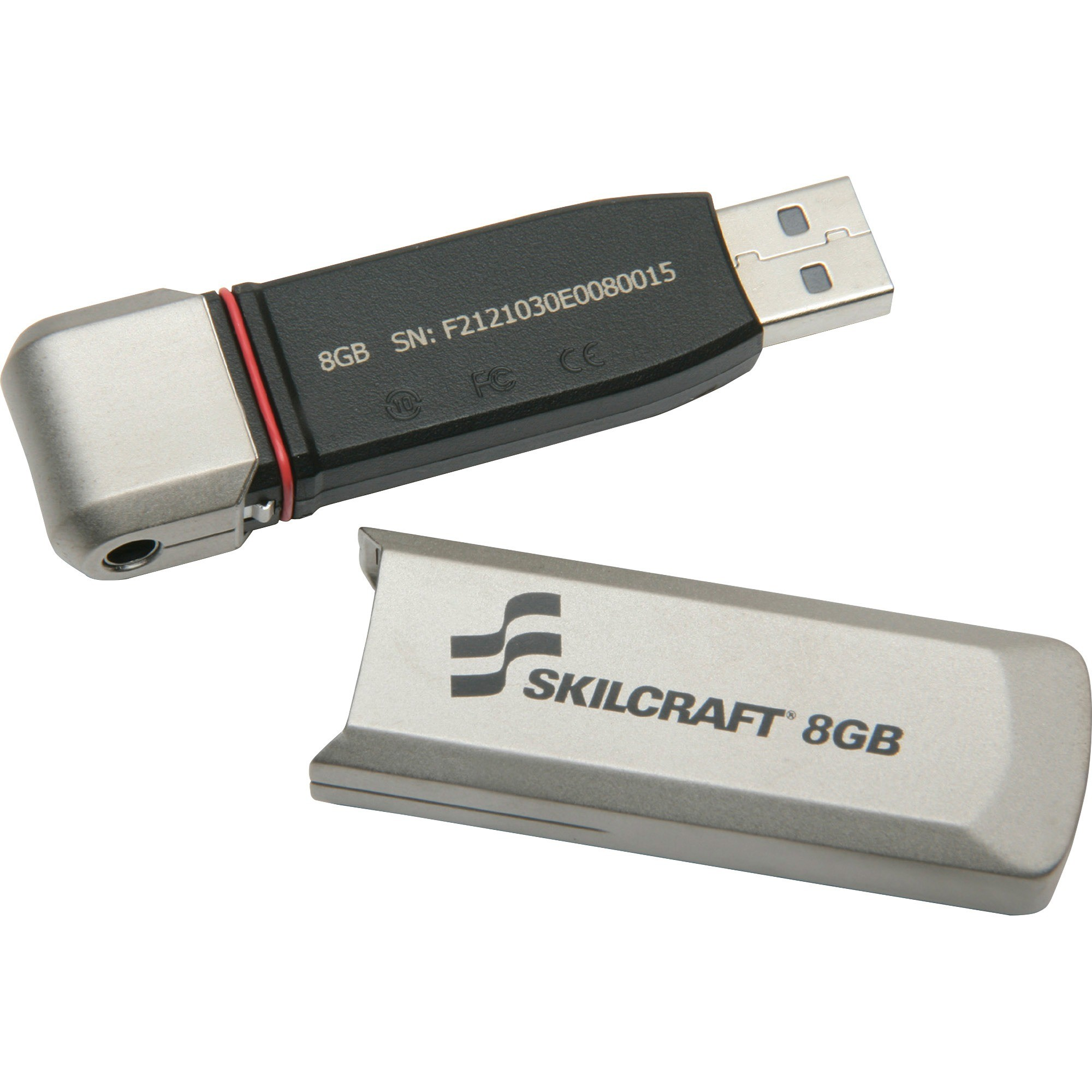 Skilcraft USB Flash Drive, 8GB, Level 3 5999351
