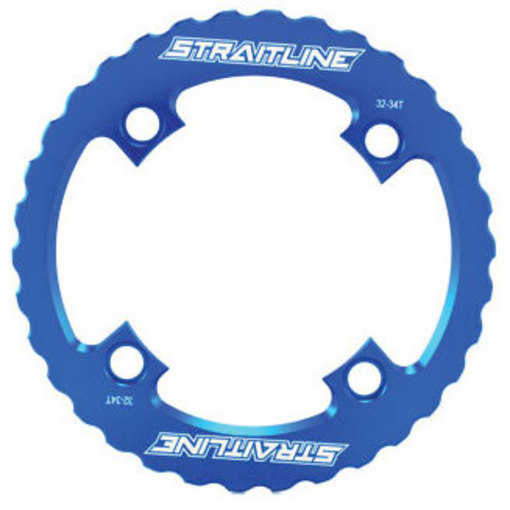 Straitline Serrated Bash Ring 4B/104 Max 34T Blue