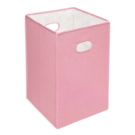 Badger Basket - Folding Hamper/Storage Bin - Pink