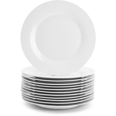 10 Strawberry Street Catering Pack White Dinner Plates, Set of 12