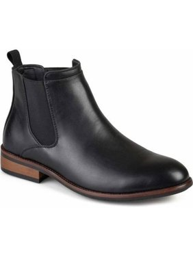 Product Image Territory Men's Faux Leather High Top Round Toe Medium and Wide Width Chelsea Dress Boots