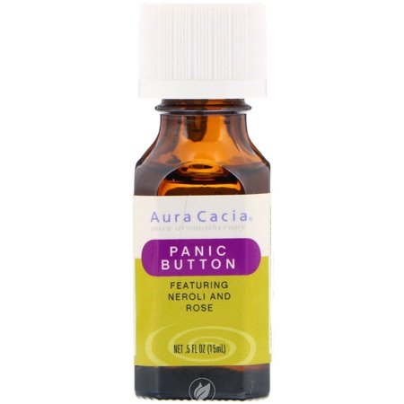 Aura Cacia Essential Solutions Oil Panic Button 0.5 Ounce, Pack of (0.5 Ounce Solutions)