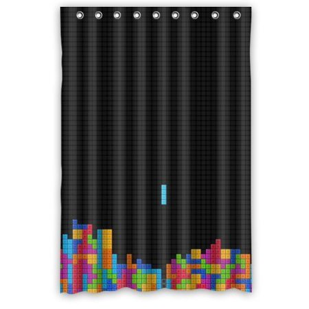 Ganma Retro Vintage Video Game Shower Curtain Polyester Fabric Bathroom 48x72 Inches