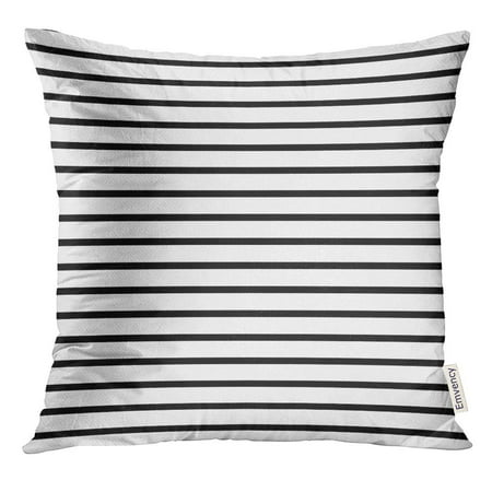 - ARHOME Colorful Stripe Thin Black and White Striped That is Repeats Small Pillow Case 20x20 Inches Pillowcase