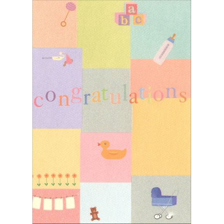 Graphique de France Congratulations Collage New Baby Congratulations (Original Collage Card)